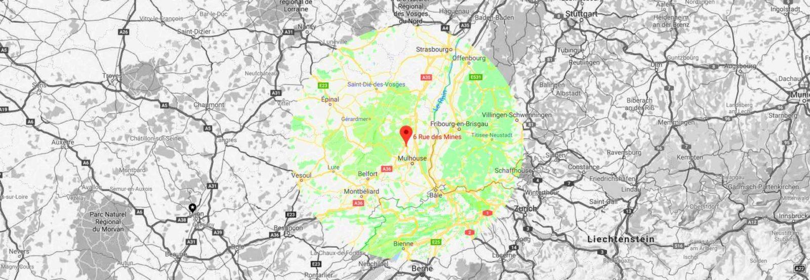 Nous intervenons jusu'à 100 km autour de Feldkirch